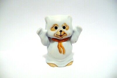Thimble Bisque Enesco Figural Of A Bear Dressed As A Ghost