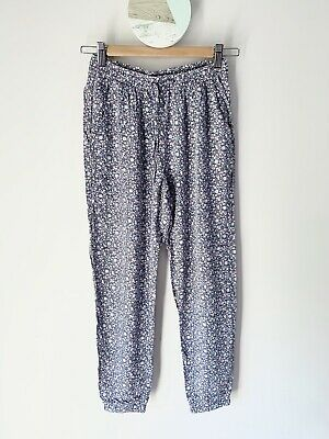 Girl's H&M Blue Floral Printed Summer Pants Size 12