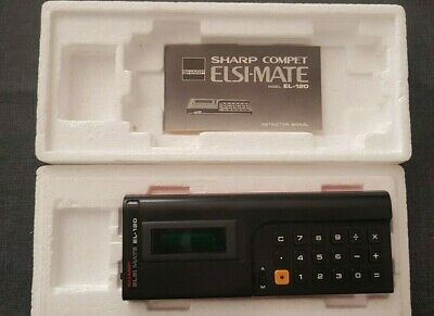 Sharp Compet Elsi-Mate EL-120 Vintage Calculator Boxed Great Condition Count