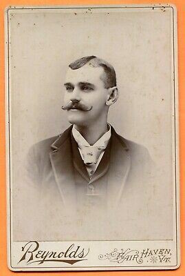 Fair Haven, VT, Portrait of a Young Man, by Reynolds, circa 1890s Backstamp