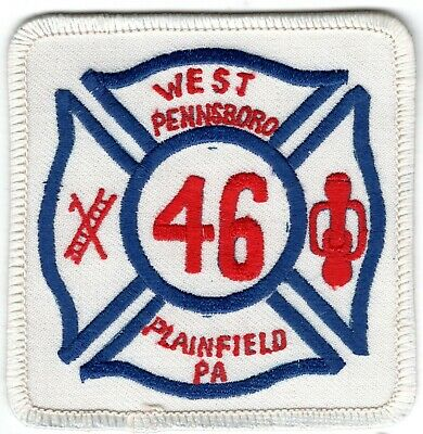 Plainfield West Pennsboro Cumberland County PA Fire Company Department Patch