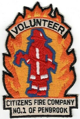 Penbrook Citizens Dauphin County Pennsylvania PA Fire Company Department Patch
