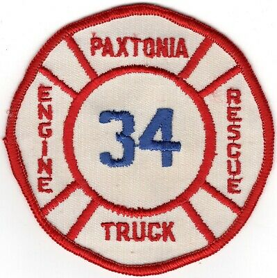 Paxtonia Dauphin County Pennsylvania PA Fire Company Department Patch