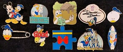 Disney Pins Donald Duck Music Nametag Safety Pin Puzzle Good Surfboard Kingdom