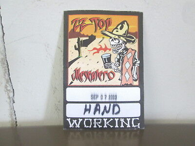 ZZ Top Mescalero BACKSTAGE PASS from Beer Drinkers & Hell Raisers 2003 Tour