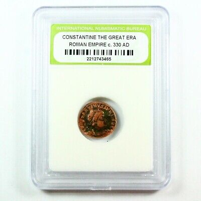 Slabbed Ancient Roman Constantine the Great Coin c. 330 AD Exact Coin Shown 2054