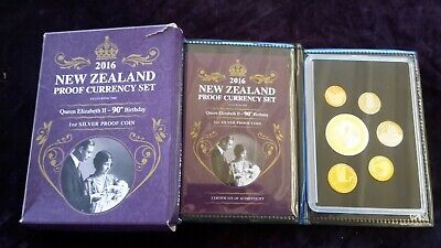 New Zealand 2016 Proof Coin Set Qe2 90Th Birthday