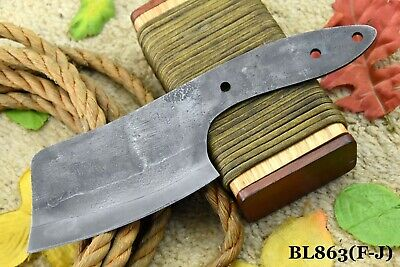 1095 High Carbon Steel Blank Blade Cleaver Hunting Knife, No Damascus (BL863-F)