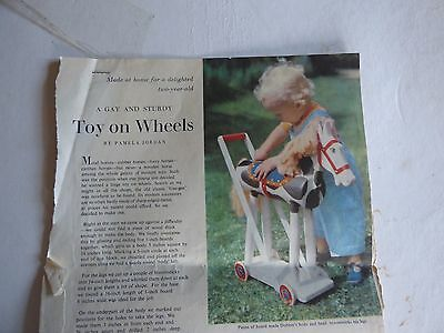 Vintage Instructions for Building Toy Push-Along Horse