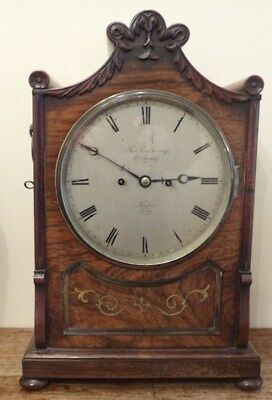 Fine Regency brass inlaid Rosewood BRACKET CLOCK Thomas Cox Savory London c 1820