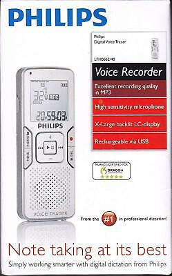 Philips Digital Voice Recorder Tracer LFH0662/40 - Nuance Certified Brand New!