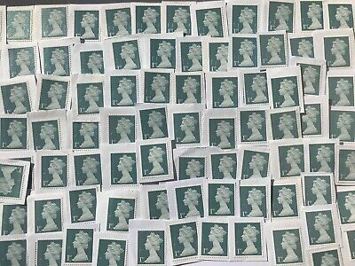 100 x 1st Class Diamond Jubilee GB Security Type Unfranked Stamps on White Paper