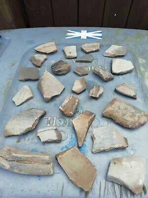 Roman Pottery Greyware Shards Nearly 2000 Yrs Old #26