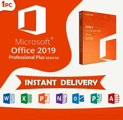Microsoft Office 2019 Pro Plus 🔥 License key Lifetime 🔥 32/64 bits 🔥 Windows