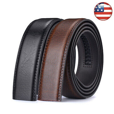 Luxury Men's Automatic Buckle Belt Ratchet Strap Genuine Leather Strap Jeans