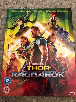 Thor- Ragnarok Blu ray. With slipcover. Chris Hemsworth Incredible Hulk Loki