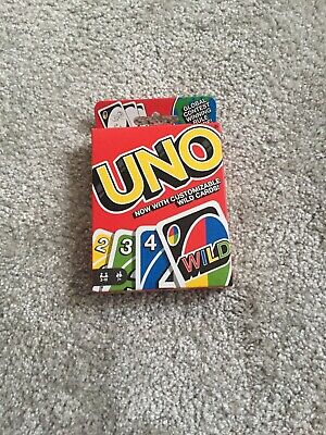 Mattel UNO with customisable wild cards game, Great Family Fun