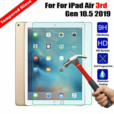 100%Genuine TEMPERED GLASS Screen Protector  For Apple ipad Air3 10.5 inch 2019