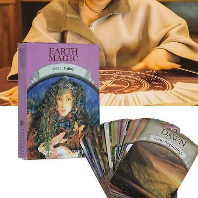 Magic Oracle Cards Earth Magic Read Fate Tarot 48-card Deck+Guidebook Set R1X0Y