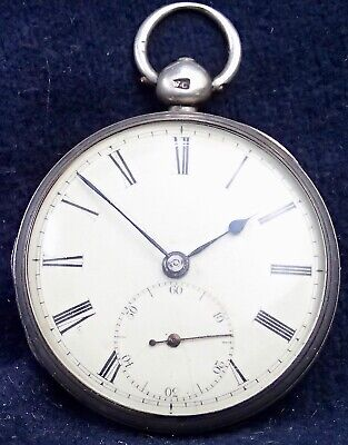 English Solid Silver Fusee Lever Early Victorian Pocket Watch London 1837
