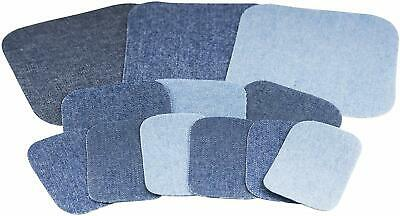 Singer 00079 Denim Iron-On Repair Kit, Assorted Sizes, Iron On Patches For Jeans
