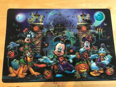 Disney Parks Not So Scary Halloween Haunted Hatbox Placemat Mickey Mouse