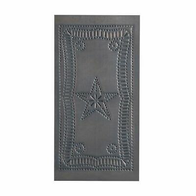 Small Vertical Federal Cabinet Panel insert in Blackened Tin