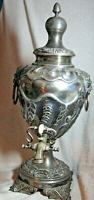 Antique Barkers Bros.large  Silver Plated Samovar /Tea /Coffee Warmer.