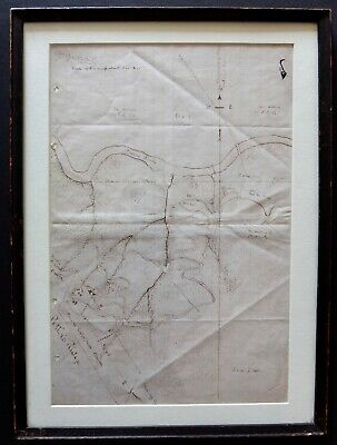 Hand Drawn Map Of Fresno Enterprise Gold Mine By Ray Gass Coates Circa 1885-1887