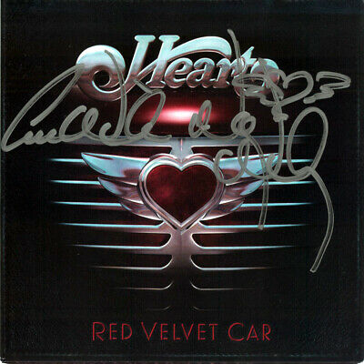 HEART Ann & Nancy Wilson Red Velvet Car autographed  cd cover promo auto signed