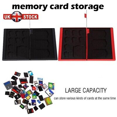 Silver Aluminum Memory Card Storage Case Box Holders For Micro SD Card 24TF