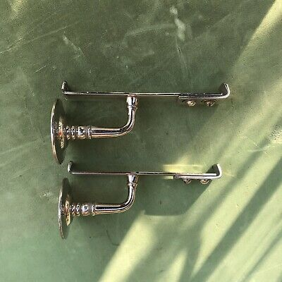 Vintage Brasscrafters Shelf Brackets Nickel Plated Brass Victorian Bathroom