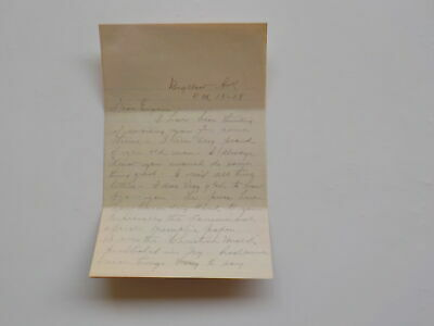 WWI Letter 1918 Torpedoed Submarine Gunner Sick With Flu Bigelow Arkansas WW1