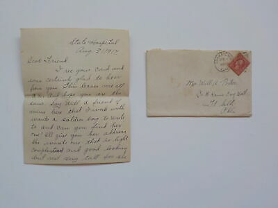 WWI Letter 1917 110th Engineers Osawatomie Kansas Fort Sill Oklahoma WW I WW1