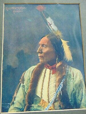 Two Antique Photographic Prints Of Native American Indian Chiefs