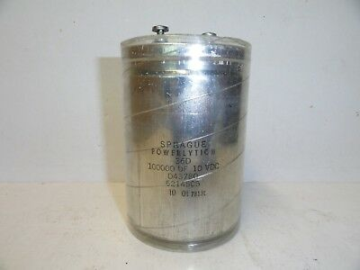 Sprague Capacitors 100,000 uF - 10VDC    (LOT OF 1)