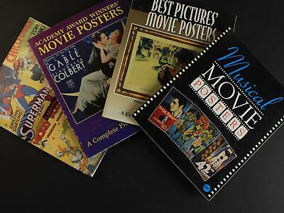 FOUR 1990s MUSICAL~CARTOON~BEST PICTURES~AA MOVIE POSTER PICTORIAL ENCYCLOPEDIAS