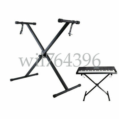 X Frame Piano Keyboard Stand Heavy Duty Folding Adjustable Height with Straps