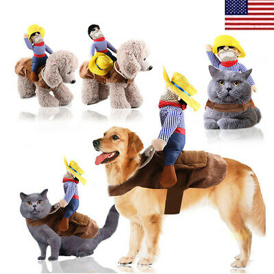 Pet Dog Rider Style Halloween Festival Cowboy Suit For Party Decoration Clothes