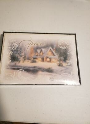 Hallmark Thomas Kinkade Christmas Boxed Cards, Peace 16 Cards and 17 Envelopes