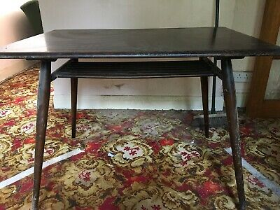 Ercol Vintage Wooden Table Very Old Vintage Art Deco Wood Plank Breakfast Table