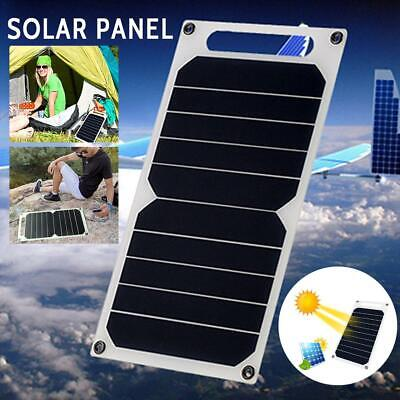 10W 5V Monocrystalline Solar Panel Kit Caravan Camping Power Battery Charging