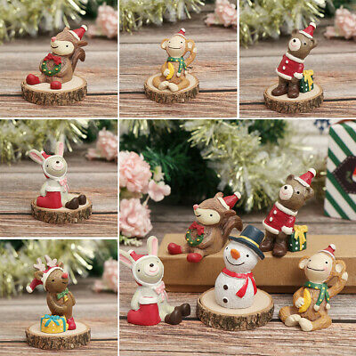 1Pc Miniatures Merry Christmas Santa Claus Snowman Figurine Desktop Ornament-