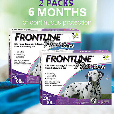 FRONTLINE Plus for Dogs (45-88 lbs) Flea & Tick Treatment , 6 Doses