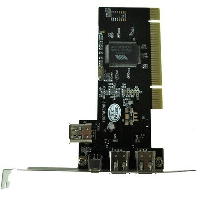 PCI FireWire IEEE 1394 3 + 1 Port Card + 4/6 Pin Cable V8G8