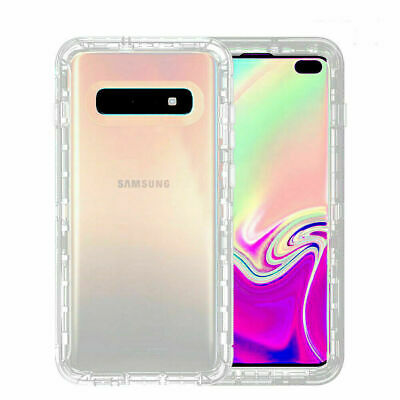 For Samsung Galaxy S10 Case 3-Layer Defender Transparent Heavy Duty Armor Cover
