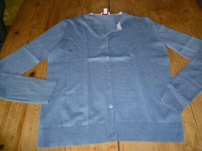 Gorgeous GAP Mid Blue Cotton & Silk Blend Super Soft CARDIGAN, Small