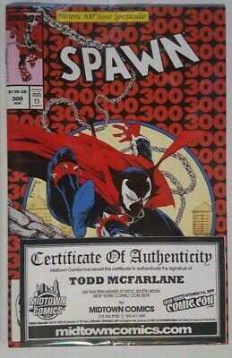 Spawn #300 Homage Parody Variant Signed By Todd Mcfarlane With Coa