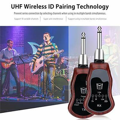 Portable Wireless Guitar Receiver Transmitter Effector system Electric bass UHF