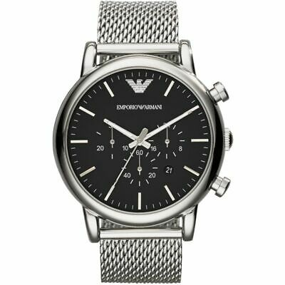 Brand New Men Genuine Emporio Armani Ar1808 Men's Genuine Luigi Mesh Large Watch